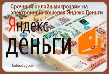 микрозайм на интернет кошелек кредит список