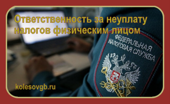 Согласно законодательству РФ все граждане (физические лица) должны осуществлять обязательные налоговые платежи