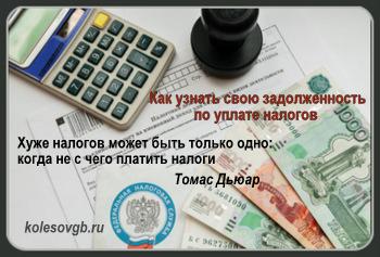 узнать о наличии налоговой задолженности